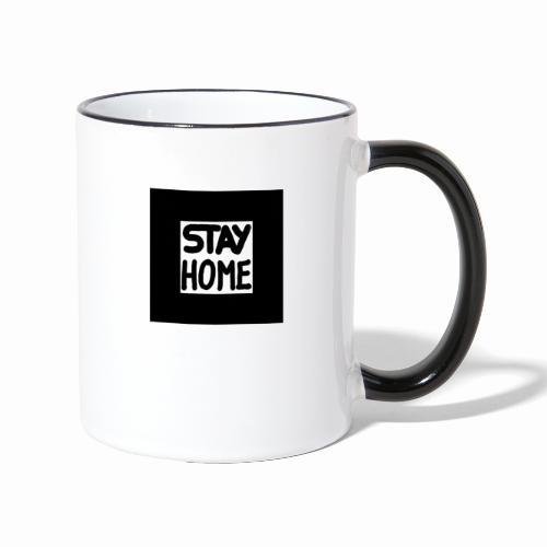 STAYHOME - Tasse zweifarbig