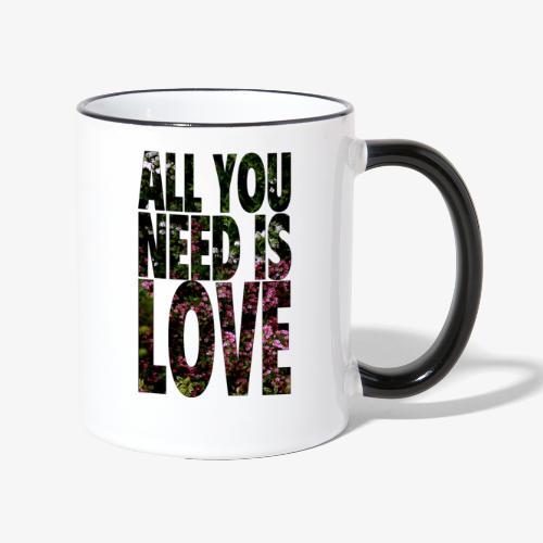 All You need is love - Kubek dwukolorowy