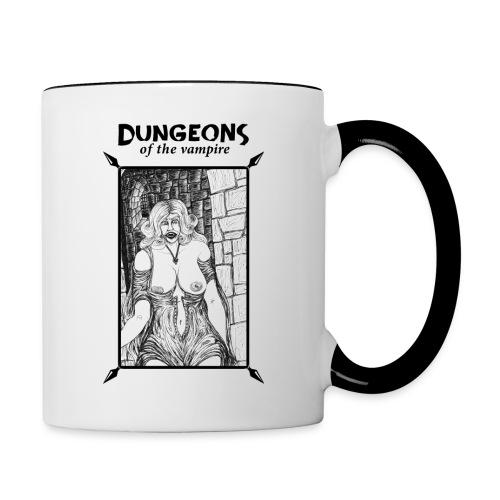 catacombs vampire black version - Contrasting Mug