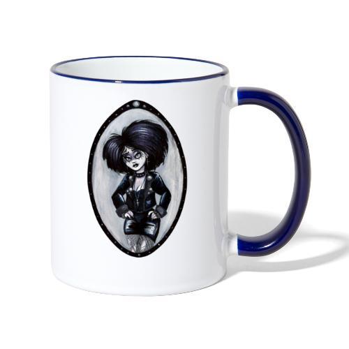 Trad Goth Art by E. R. Whittingham - Contrasting Mug