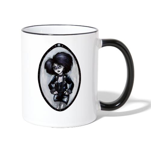 Trad Goth Art by E. R. Whittingham - Contrasting Mug