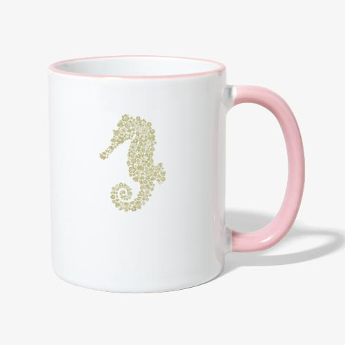 Seepferdchen - Tasse zweifarbig