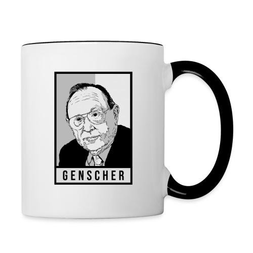 Hans-Dietrich Genscher (FDP) - Tasse zweifarbig