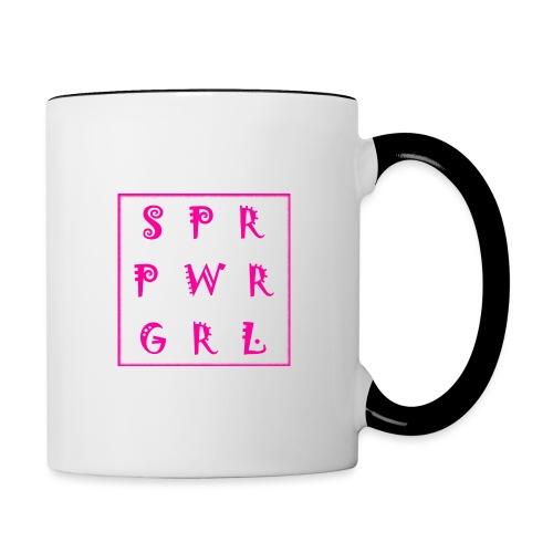 SUPER POWER GIRL - Tasse zweifarbig