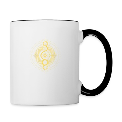 Sacred Geometry Metatron's Cube Gold Transcendence - Contrasting Mug