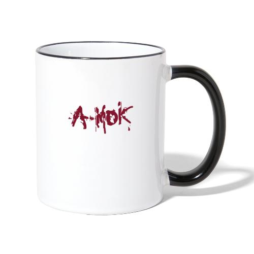 A-MOK Splash Logo Rot - Tasse zweifarbig