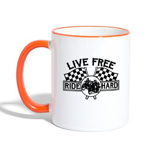 Live Free Ride Hard - Taza en dos colores