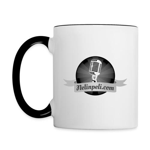 Nelinpelin logo MV - Kaksivärinen muki