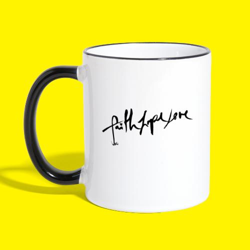 Faith Hope Love - Contrasting Mug
