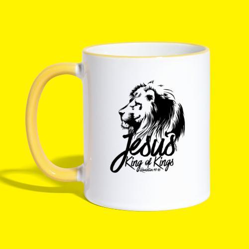 JESUS - KING OF KINGS - Revelations 19:16 - LION - Contrasting Mug