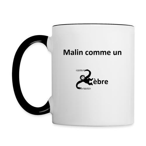 Malin comme un zèbre - Mug contrasté