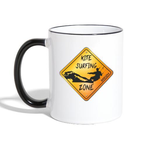 KITESURFING ZONE BREIZH - Mug contrasté