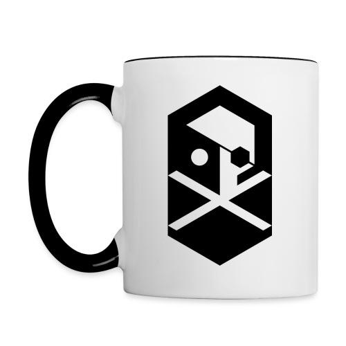 crossbones original png - Contrasting Mug