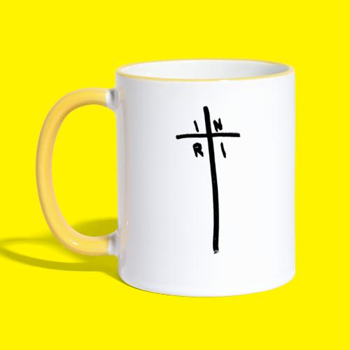 Cross - INRI (Jesus of Nazareth King of Jews) - Contrasting Mug