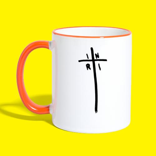 Cross - INRI (Jesus of Nazareth King of Jews) - Contrasting Mug