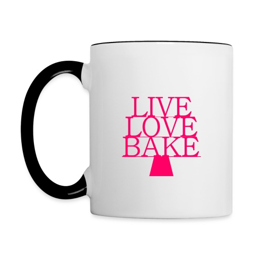 LiveLoveBake ekstra stor - Tofarvet krus