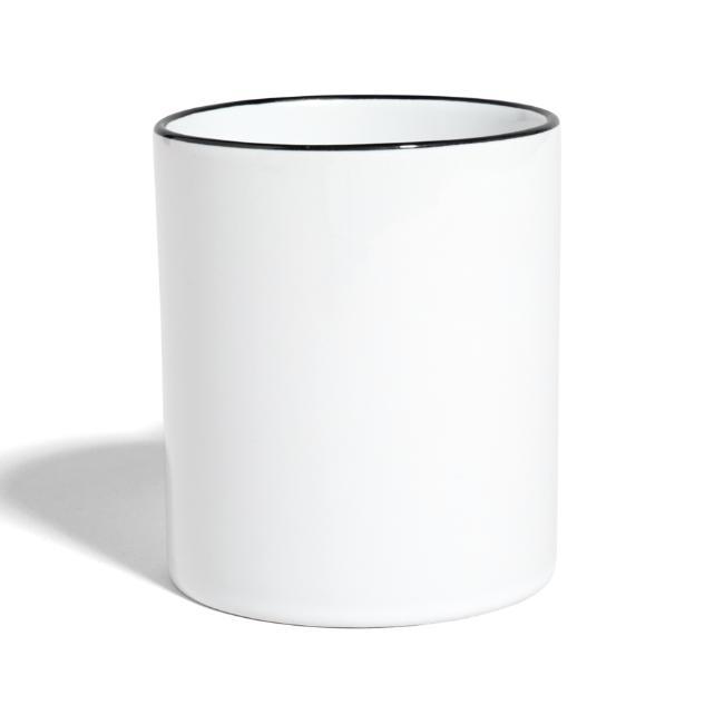 Vorschau: A Watschn is schnö gschmiat - Tasse zweifarbig
