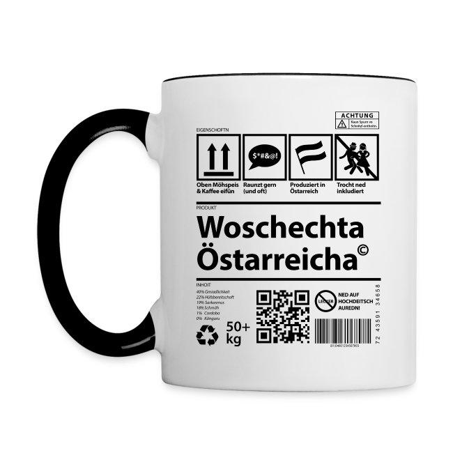 Vorschau: Woschechta Österreicha - Tasse zweifarbig
