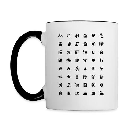 Picture Language - Tasse zweifarbig