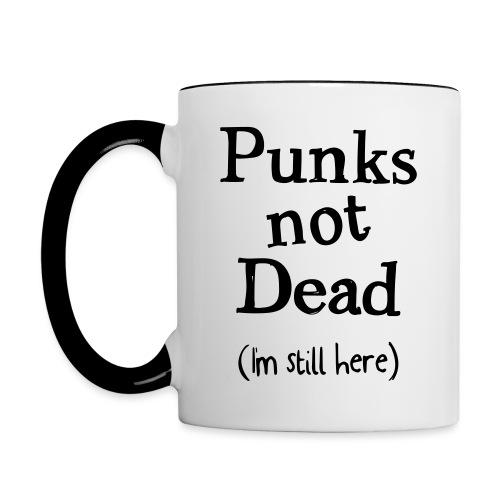 punks not dead - Tvåfärgad mugg