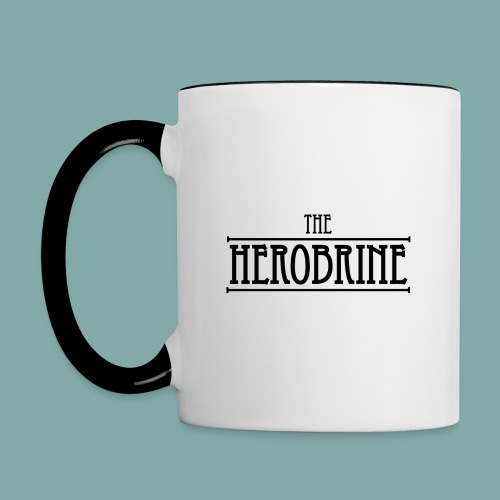 The Herobrine-Logo Flat - Contrasting Mug
