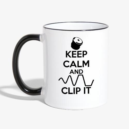 keep calm and clip it - Tvåfärgad mugg