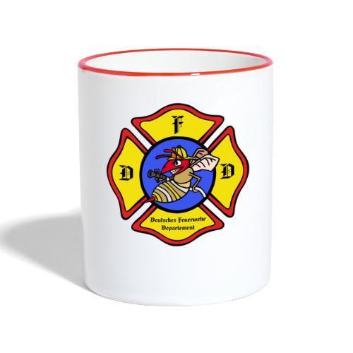 Feuerwehrschild - Tasse zweifarbig