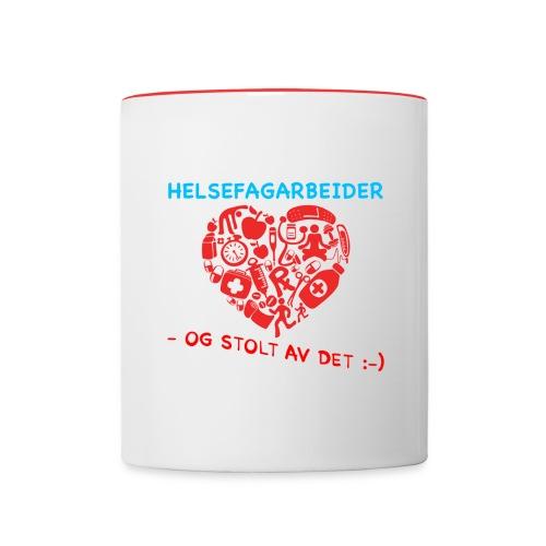 Helsefag og stolt - Tofarget kopp