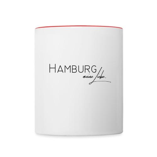 Hamburg - Tasse zweifarbig