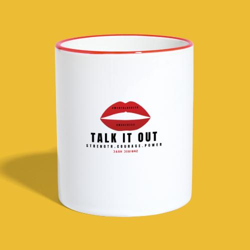 Mental Health Awareness (Talk It Out) - Contrasting Mug