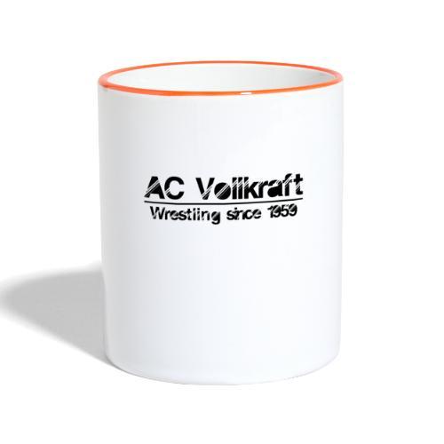 Ac Vollkraft - Wrestling since 1959 - Tasse zweifarbig