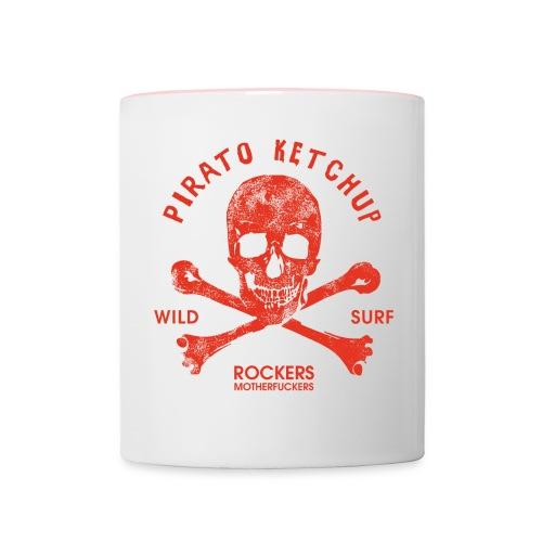 Pirato Ketchup Red Skull - Contrasting Mug