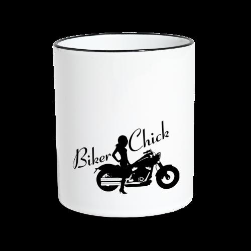Biker Chick - Custom bike - Kaksivärinen muki