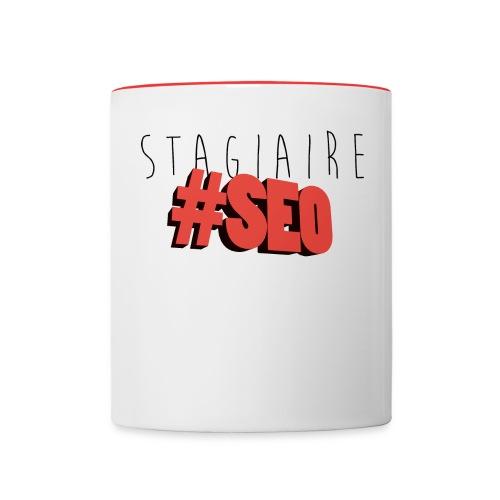 stagiaire-SEO red - Mug contrasté
