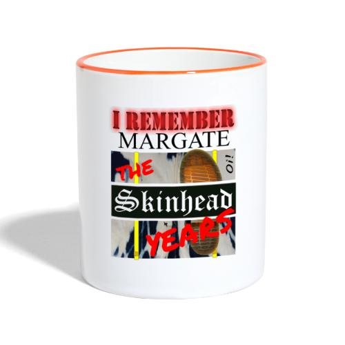REMEMBER MARGATE - THE SKINHEAD YEARS 1980's - Contrasting Mug