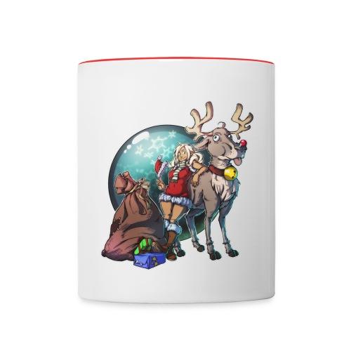 Reindeer elf shirt png - Tasse zweifarbig