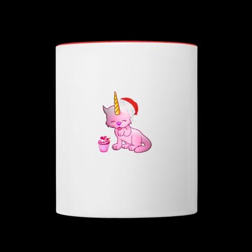 Licorne père noël - Mug contrasté