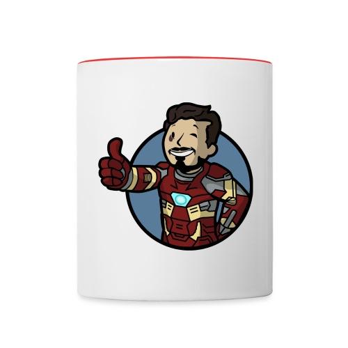 Vault-Boy/Iron Man Mashup T-shirt - Contrasting Mug