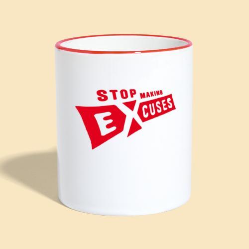 Excuses rot - Tasse zweifarbig