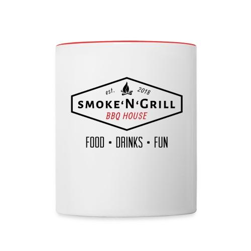 Logo Smoke N Grill OFF - Tasse zweifarbig
