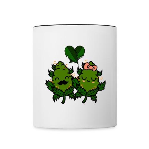 Mr & Ms Weed Nug - Taza en dos colores