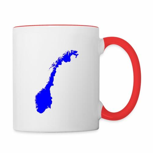Norge_transparent_blaa - Tofarget kopp