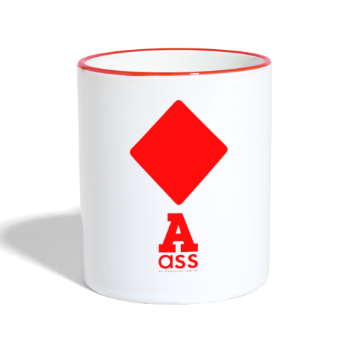 KARO ASS - Tasse zweifarbig