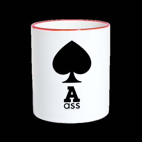 PIK ASS - Tasse zweifarbig