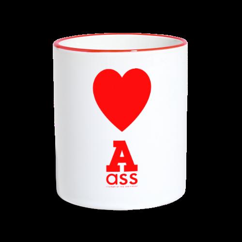 HERZ ASS - Tasse zweifarbig