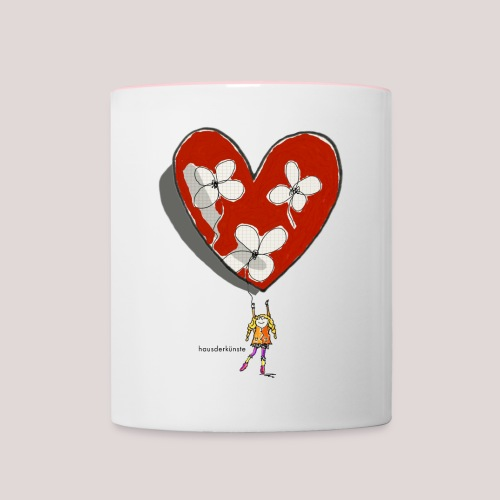 little girl with heart - Tazze bicolor