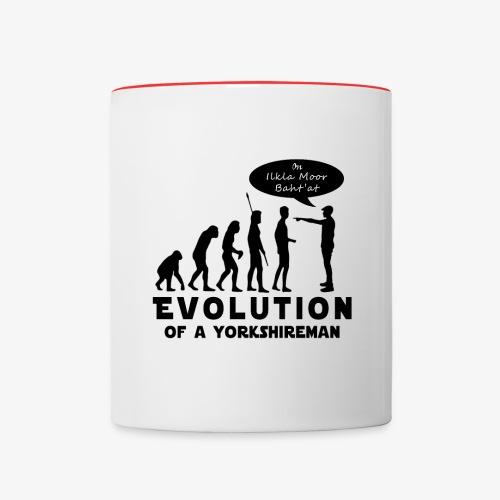 Evolution of a Yorkshireman - Contrasting Mug