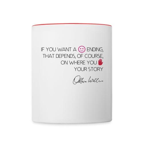 Orson Welles citation happy ending - Mug contrasté