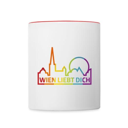 Wien Liebt Dich - Tasse zweifarbig