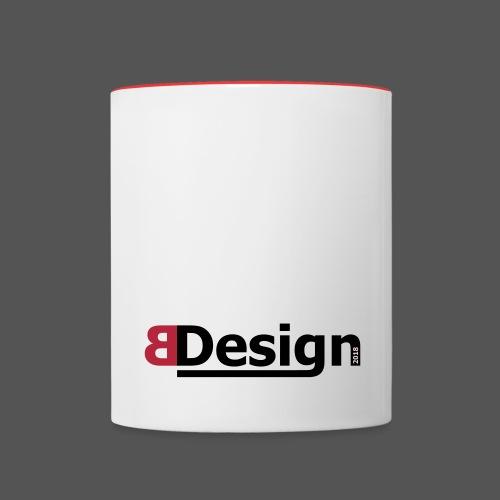 bdesign_logo - Tasse zweifarbig